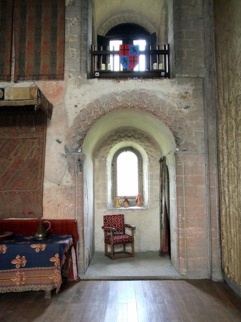 Inside Hedingham Castle