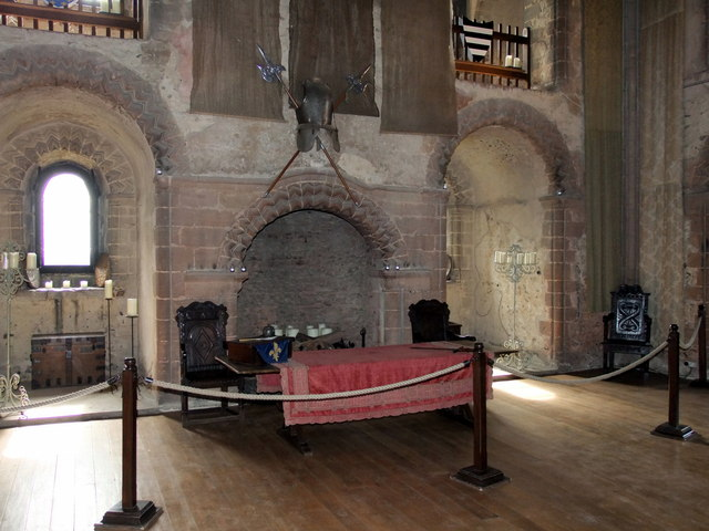 Fireplace in Hedingham Castle