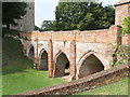 TL7835 : Norman bridge, Hedingham Castle by PAUL FARMER