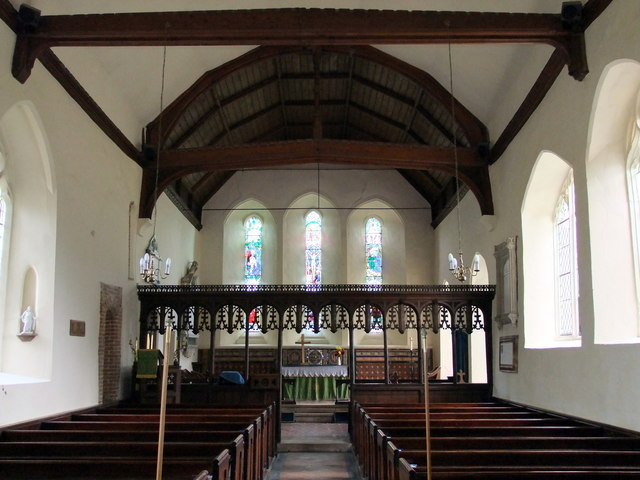 Interior of Holy Innocents church, Lamarsh