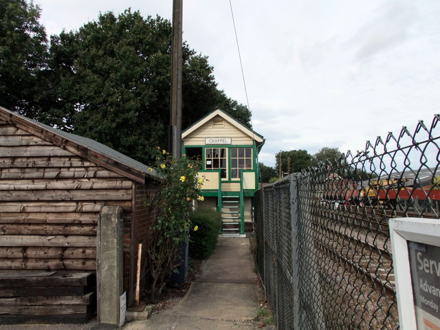 The old signal box at Chappel station