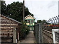 TL8928 : The old signal box at Chappel station by PAUL FARMER
