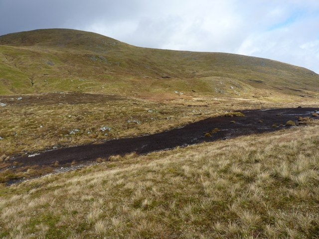 Peaty ground on the flat bealach