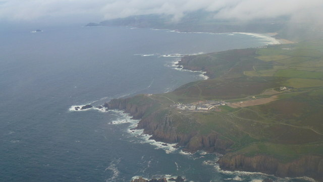 England's most westerly; viewed from the air