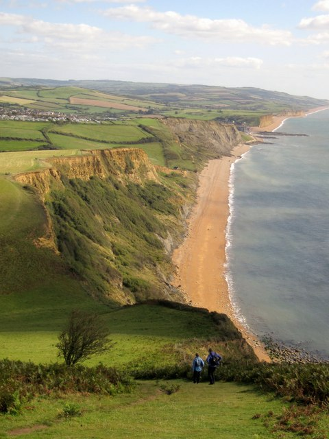 Coast path below Thorncombe Beacon