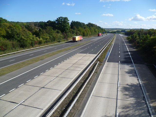 M20 from the Button Street bridge