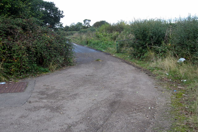 The old route of the A421 near Manor Farm