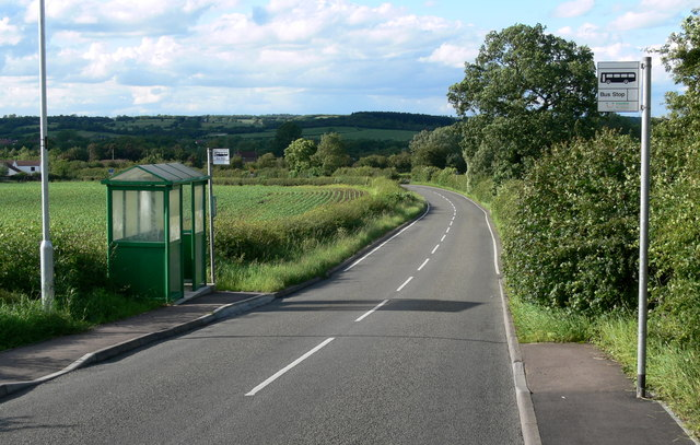 Bus shelter on Station Lane