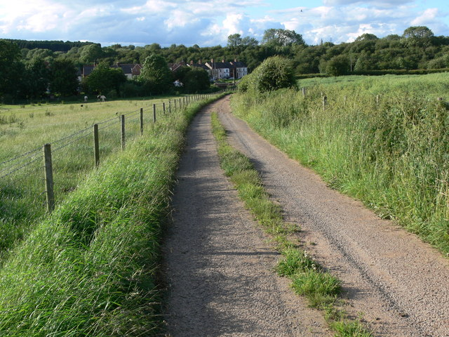 Track and byway near Asfordby Valley