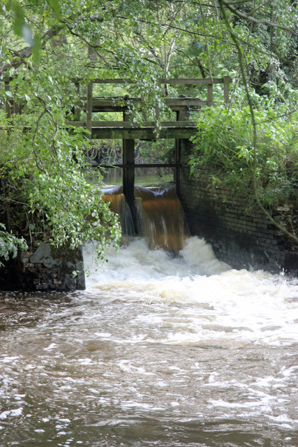 The weir with footbridge