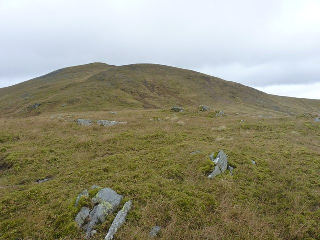 Uphill from Meall Garbh to Carn Gorm