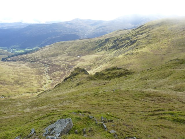 Rocky spur above the corrie