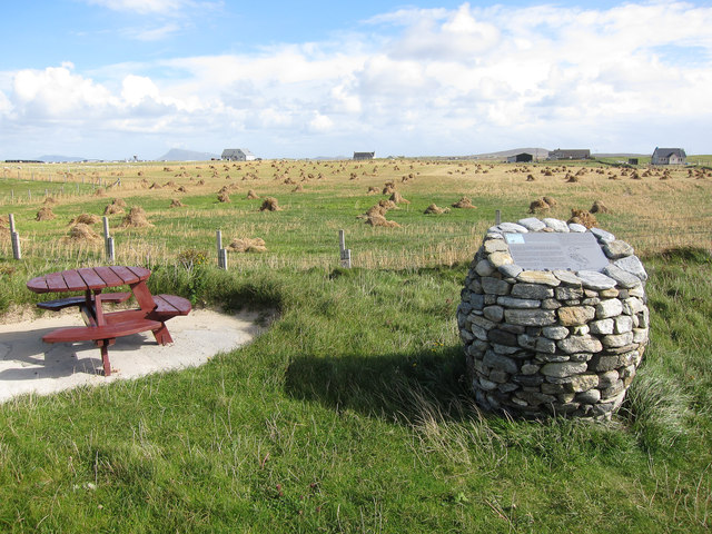 Machair information board