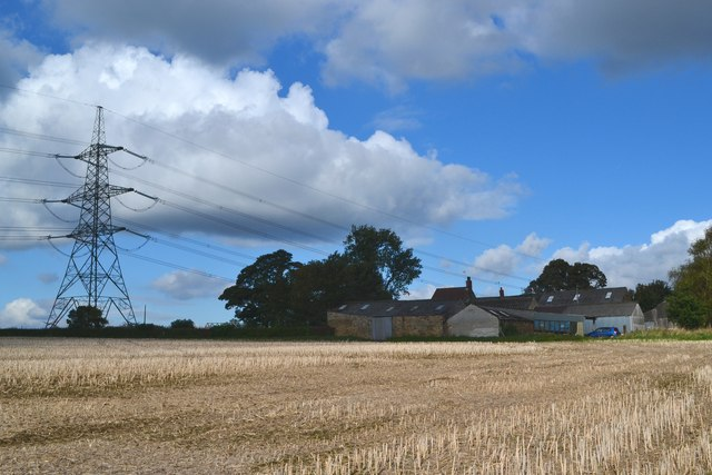 Across the stubble to Boiley Farm