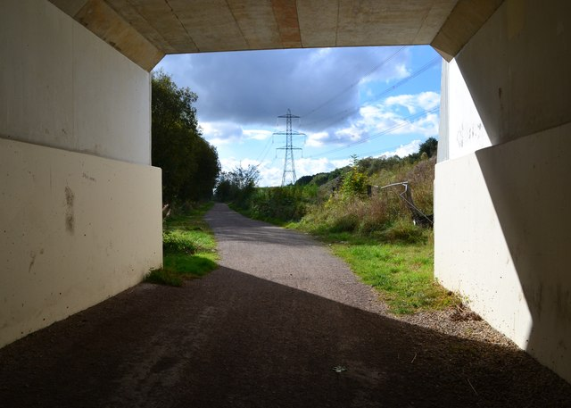 Transpennine Trail - bridge carrying the A6135 at Renishaw