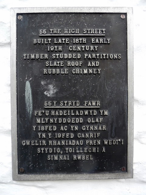 Plaque on House, Builth Wells, Powys