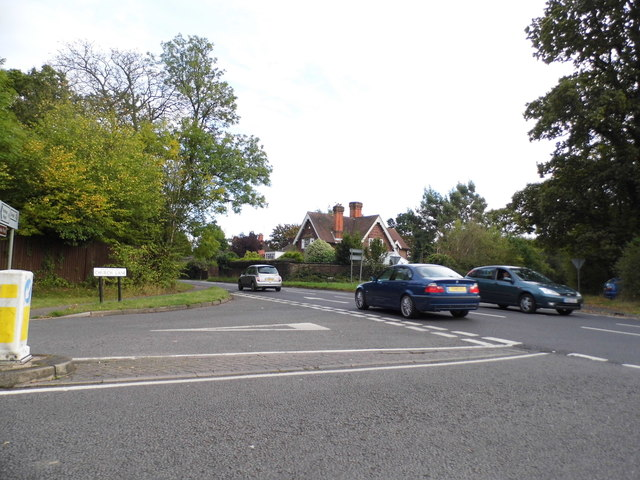 Church Lane at the junction of Park Road, Stoke Poges
