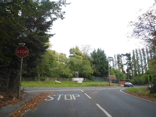Park Road at the junction of Grays Park Road, Stoke Green