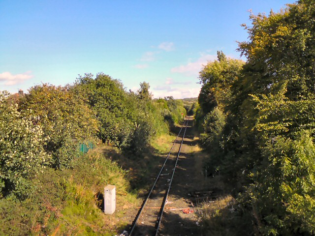 Cheshire Lines through Woodley