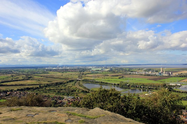 View towards the Wirral  from Helsby Hill