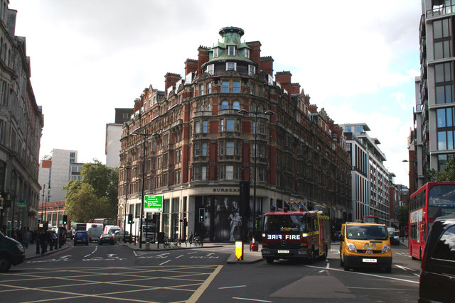 Knightsbridge Corner and Burberry's
