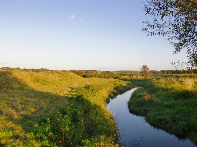 The River Stor at its confluence with the Arun