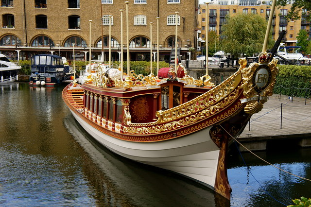 'Gloriana' in St.Katharine Docks, London
