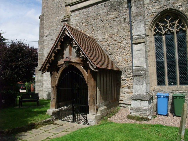 Porch and 'herringbone' pattern wall, Church of St Peter, Church Laneham