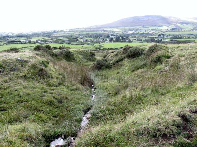 Incised moorland stream below the Tain Way