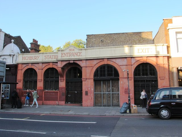 Disused entrance to Highbury station, Holloway Road, N5