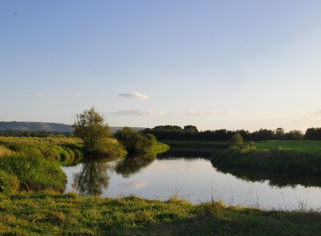 The River Arun at its confluence with the Stor, Pulborough Brooks