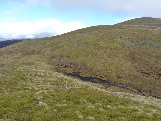 The bealach between An Sgorr and Meall Garbh