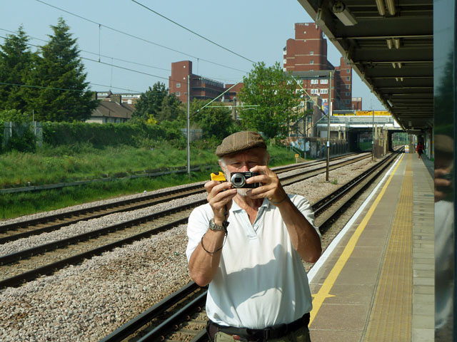 Dagenham Heathway station in the mirror