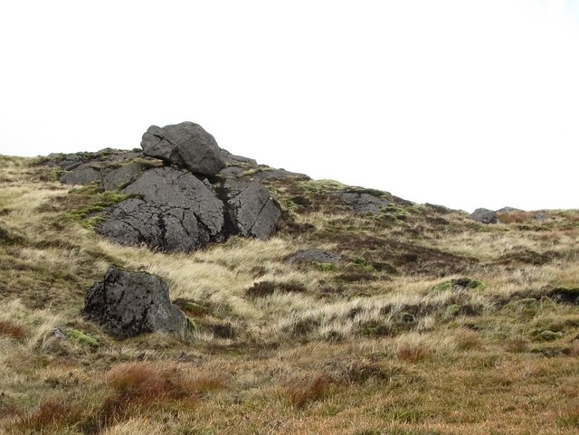 A perched block near the summit of Slieve Foye