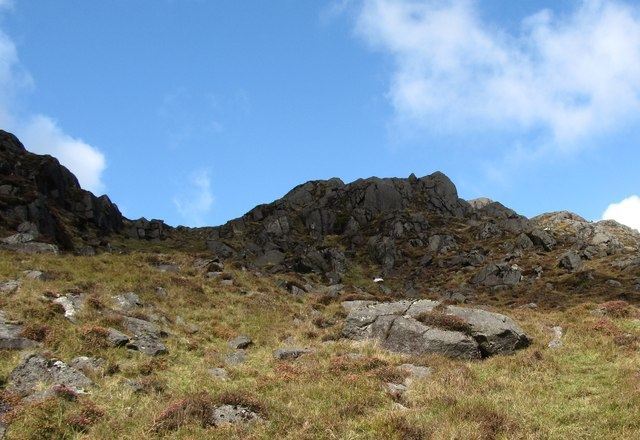 Crags on the south side of Slieve Foye