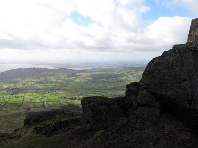 View westwards across the Cooley Peninsula from near the summit of Slieve Foye