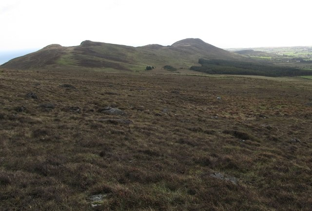 View south along the western side of the col between Slieve Foye and Barnavave