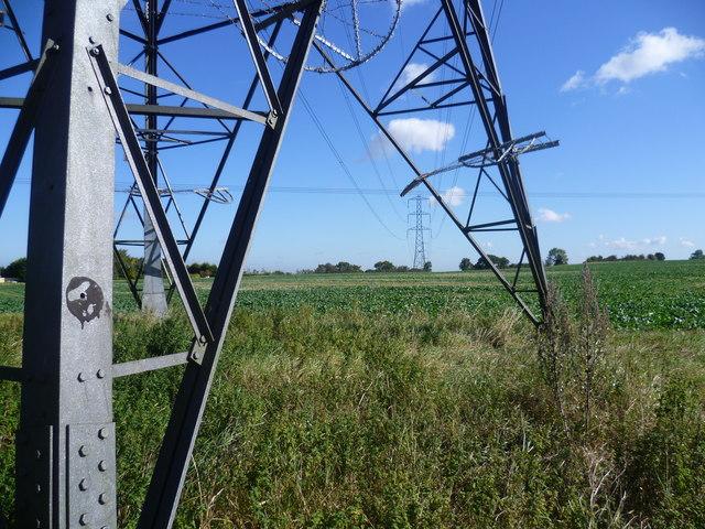 Pylons near Longfield