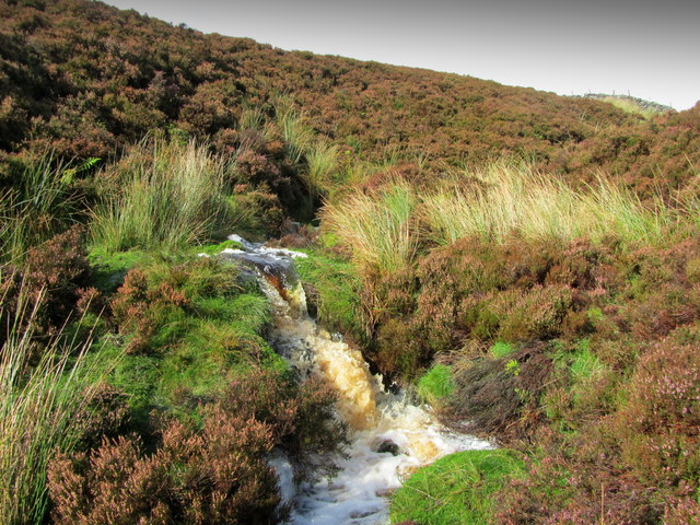 Small Waterfall on Tributary of Hazel Gill