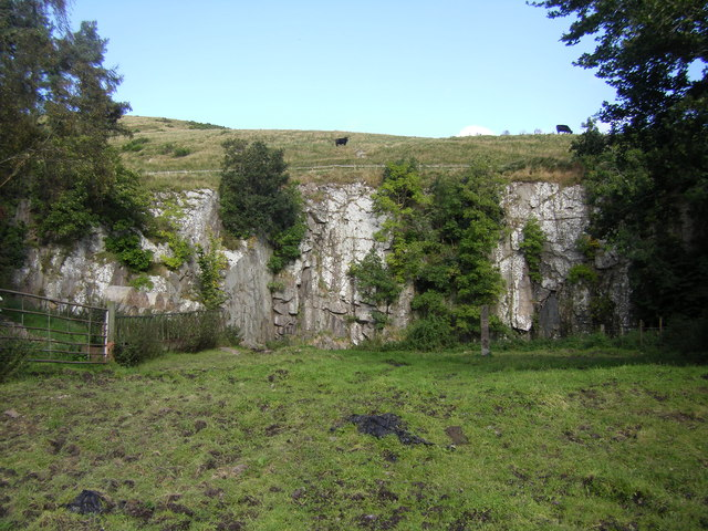 Disused Quarry by Kale Water