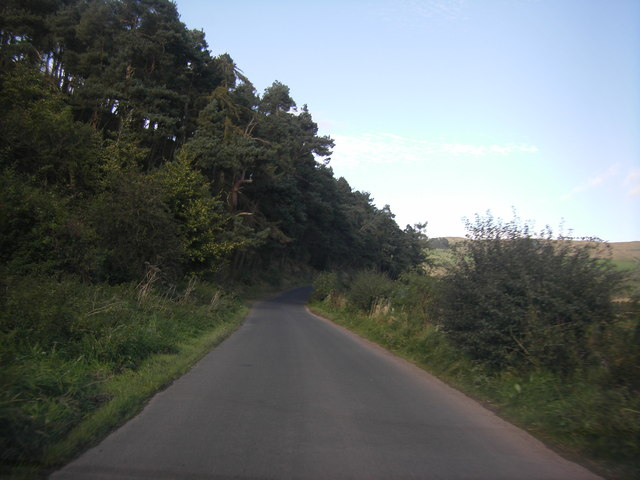 Minor road from Hownam heading for the B6401