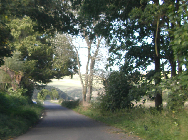 Minor road from Hownam, near Corbet Tower