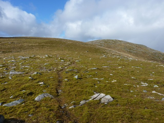 Incipient path between Meall Luaidhe and Meall Garbh