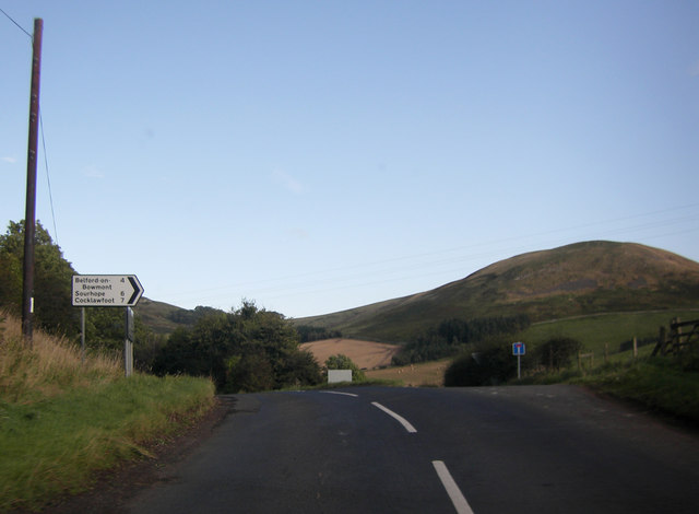 B6401 by the turning for the Bowmont Valley