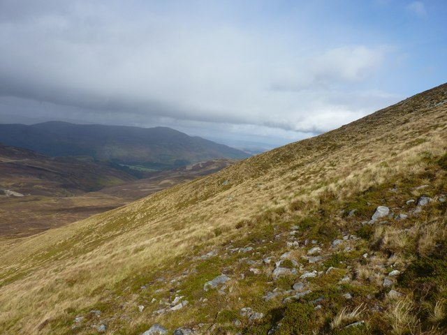 A steep slope on Craig an Daimh