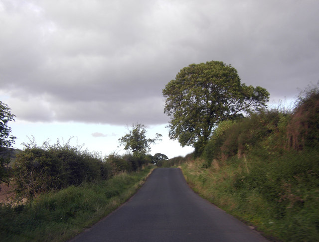 Road between Kirk Yetholm and Yetholm Mains