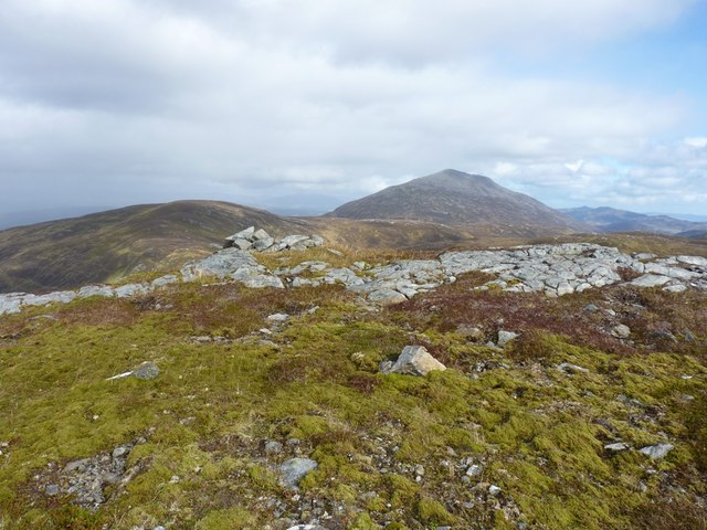 A small cairn on the Craig an Daimh ridge