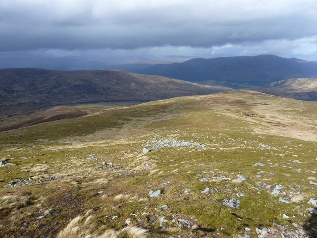 Down the ridge of Craig an Daimh