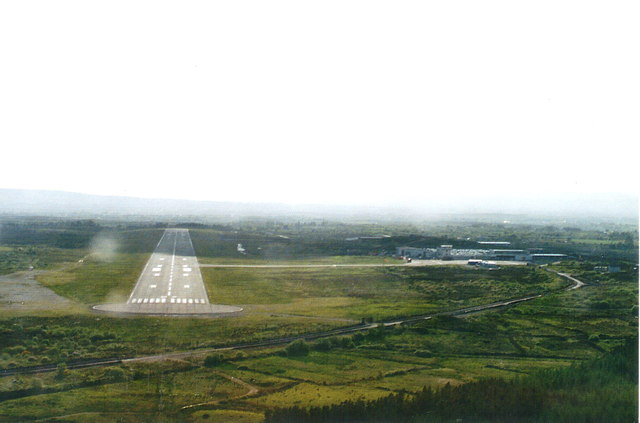 Approach to Knock airport, 2003