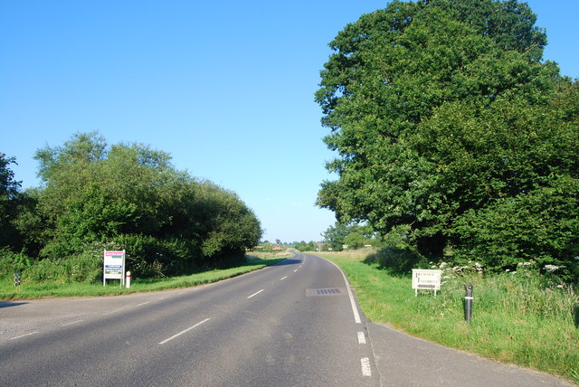 The A272 near Durleighmarsh Farm